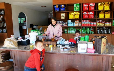 """Unser"" Tee-Shop in Doi Mae Salong, Thailand"