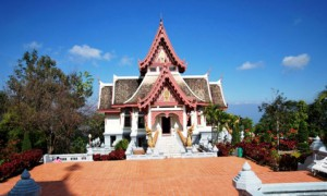 Nebengebäude des Tempels über Doi Mae Salong