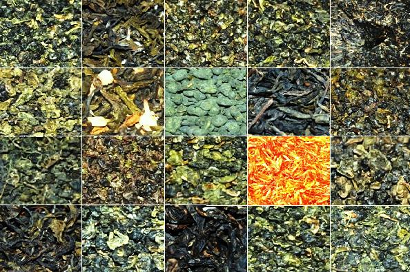 Thai Tee Mix 2: 20 verschiedene Tees aus Nord-Thailand, Collage