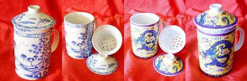 Gaiwan-Tasse-Kanne-Kombi, Herkunft: Taiwan, Collage