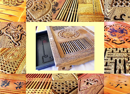 Teeboote (Tee-Tische), Collage 3; Herkunft: Taiwan
