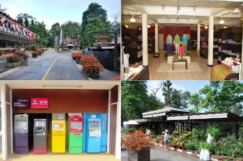 Königliches Entwicklungsprojekt Doi Tung, Restaurant und Shopping
