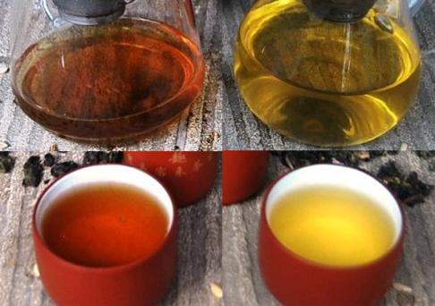 Die Farben von Cha Khao Hom Thai Reistee Classic- und Premium Version im Vergleich