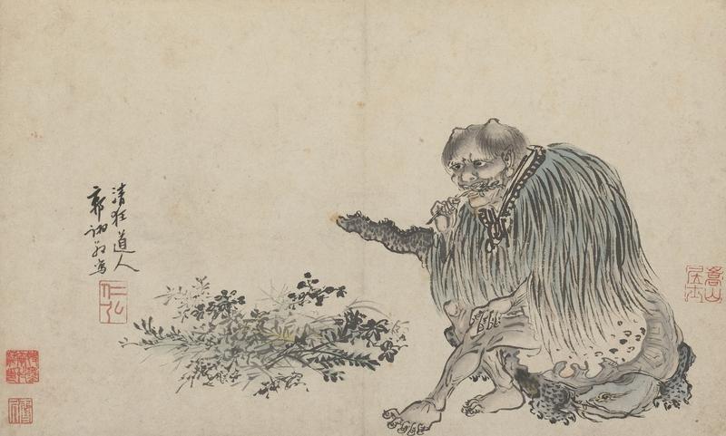 Shennong, Urvater von Tee als Getränk - Zeichnung um 1500