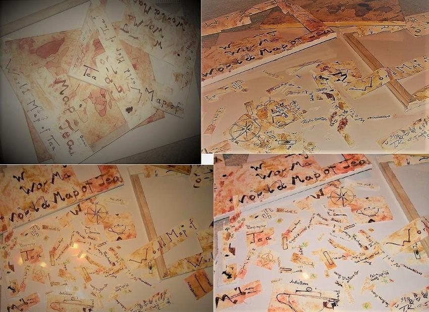 Die Weltkarte des Tees - Handgemalt : Schnipsel